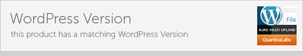 WordPress Version Fil dette produkt har matchende WordPress Version MULTI UPLORD tir