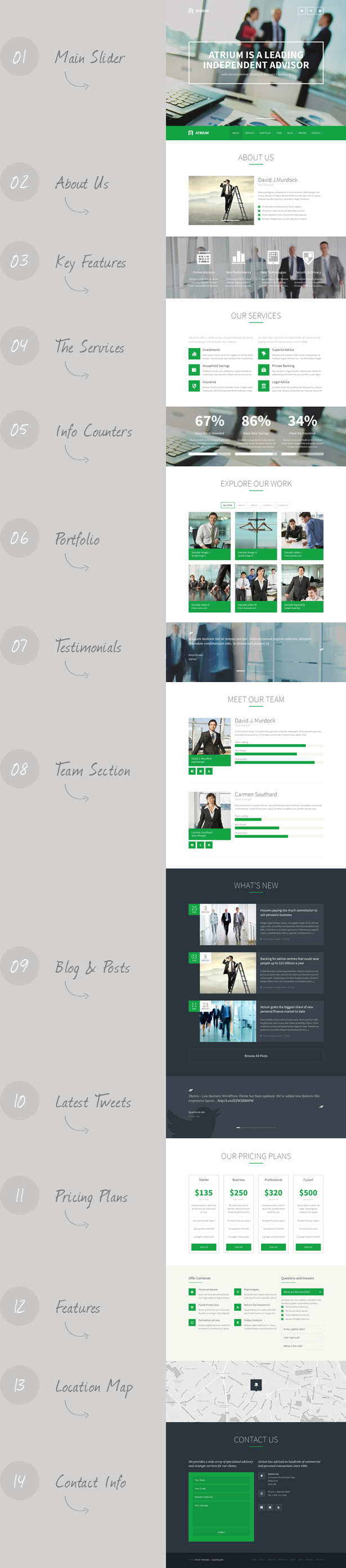 Atrium - Responsive Corporate One Page Template