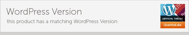 WordPress Version UERTICAL Taele dette produkt har matchende WordPress
