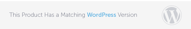 This Product Has Matching WordPress Version