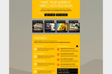 Nostalgia Landing WordPress Theme