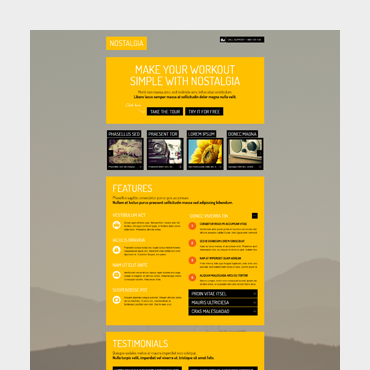 Nostalgia Landing WordPress Theme