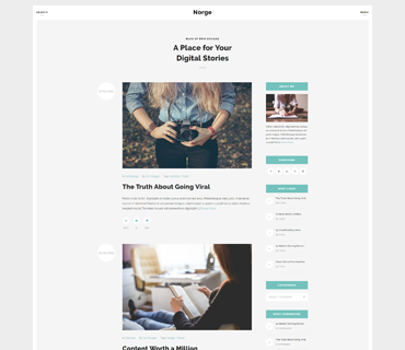 Norge WordPress Theme