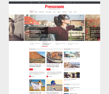 Pressroom WordPress Theme